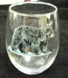 Stemless Wine Goblets 3 Size Options - Full Color- Black Bear (Set of 4) GW10202.BLKB