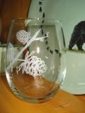 GW10202E.LPP - Stemless Wine Goblets 3 Size Options - Sand Carved - Cones  GW10202E.LPP