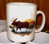 SM114.LMW - Bright White Porcelain Super Sized Scenic Moose 30oz. Mug SM114.LMW