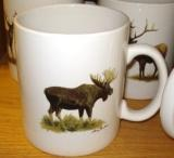 SM114.MOSB - Bright White Porcelain Super Sized Moose 30oz. Mug SM114.MOSB