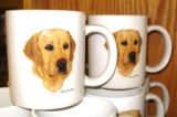 SM114.YLAB - Bright White Porcelain Super Sized Yellow Lab 30oz. Mug SM114.YLAB