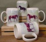 SS111.HREW - English Horse Wrap 22oz. Stoneware Stein  (set of 4) SS111.HREW