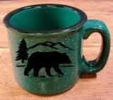 TM10149.BERS - 15oz Dark Green Trail Mug - Bear Silhouette TM10149.BERS
