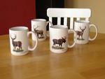 GP113.BGMB - 15 oz. White El Grande Mug - Big Game Animal Series (4 Mug Set) GP113.BGMB