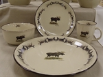 AD10252.MOSBANT - 16pc Moose with Antler  Dinnerware Set AD10252.MOSBANT