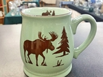 BL10194.MOSS - Fresh Meadow Green Bell Mug - Moose and Tree Silhouette BL10194.MOSS
