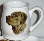 BL10262.CHS - White Bell Mug - Chesapeake Head BL10262.CHS