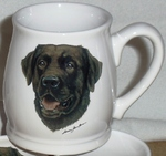 BL10262.CLAB - Chocolate Lab 16oz. White Bell Mug BL10262.CLAB
