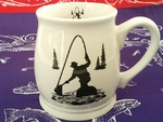 BL10262.FFMS - Fly Fisherman 16oz. White Bell Mug BL10262.FFMS