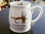 BL10262.HUM - Bell Mug - Bright White - Royal Yellow Humpy Dry Fly BL10262.HUM