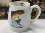BL10262.JTRT - Bell Mug - Bright White - Dancing Rainbow Trout BL10262.JTRT