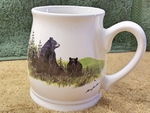 BL10262.LBF - Bell Mug - Bright White - Scenic Bear and Cubs BL10262.LBF