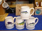 GP10262.OFFA - Big Game Offshore Fish Series 16oz. White Bell Mug (4 Mug Set) GP10262.OFFA