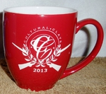 Brilliant Red 16oz. Bistro Mug Etched with Custom Logo BM10290E.Custom