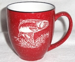 BM126E.TRT - 16oz Red Bistro Mug - Sand Carved Rainbow BM126E.TRT