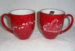 GP126E.LBFTRX 2 Bistro Mug Gift Pack - Sand Carved Bear and Cubs with Tracks GP126E.LBFTRX