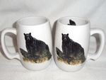 BR10263.LBB - Barrel Mugs - Black Bear on a Log BR10263.LBB