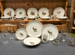 CR10317.ELKB - 20pc Classic Rustic Standing Elk Dinnerware Set CR10317.ELKB