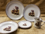 CR10317.LWC - 20pc Classic Rustic Deer Couple Scene Dinnerware Set CR10317.LWC