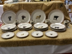 CR10317.SFR - 20pc Classic Rustic Safari Series Dinnerware Set CR10317.SFR