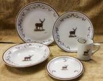 CR10317.WTDBANT - 20pc Classic Rustic Whitetail Deer with Antlers Dinnerware Set CR10317.WTDBANT