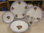 CR10318.CHS - 20pc Classic Rustic Chesapeake Retriever Dinnerware Set CR10318.CHS