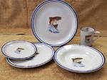 CR10318.JTRT - 20pc Classic Rustic Dancing Rainbow Dinnerware Set CR10318.JTRT