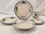CR10318.OFFA - 20pc Classic Rustic Offshore Fish Dinnerware Set CR10318.OFFA