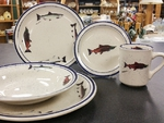 CR10318.SALA - 20pc Classic Rustic Salmon Series Dinnerware Set CR10318.SALA