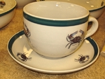 CS034.CRB - Crab Soup Cup and Saucer set CS034.CRB