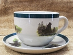 CS034.LBF - Bear and Cubs Soup Cup and Saucer Set - 2pc set CS034.LBF