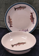 CS039.TRTA - 2pc Cabin Series Trout Serving Set CS039.TRTA