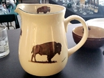 CS10107.BUF - Cabin Series Ceramic Water Pitcher- Buffalo CS10107.BUF