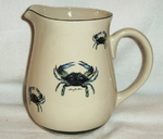 CS10107.CRB - Cabin Series Ceramic Water Pitcher- Blue Crab CS10107.CRB