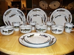 CS10274.TRTA - Cabin Series Trout Rim Dinnerware Set (16 pc) CS10274.TRTA