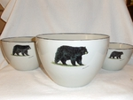 CS10275.BLKB - Cabin Series 3pc Standing Bear Serving/Mixing Bowl Set CS10275.BLKB