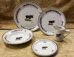 CR10317.MOSBANT - 20pc Classic Rustic Moose with Antlers Dinnerware Set CR10317.MOSBANT