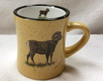 DM10307.BHS - 10 oz. Almond Diner Mug - Big Horn Sheep DM10307.BHS