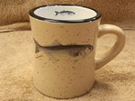 DM10307.BLU - 10 oz. Almond Diner Mug - Bluefish DM10307.BLU