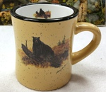 DM10307.LBB - 10 oz. Almond Diner Mug - Scenic Bear on Log DM10307.LBB