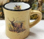 DM10307.LEC - 10 oz. Almond Diner Mug - Scenic Elk Couple DM10307.LEC