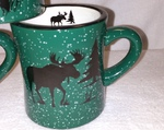 DM10306.MOSS - 10 oz. Moose Silhouette Forest Green Diner Mug DM10306.MOSS