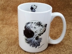 EL113.ENG 15 oz. White El Grande Mug - English Setter EL113.ENG