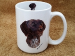 EL113.GER 15 oz. German Shorthair White El Grande Mug  EL113.GER