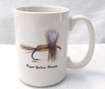 EL113.HUM - 15 oz. White El Grande Mug - Royal Yellow Humpy EL113.HUM