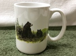 EL113.LBF - 15 oz. White El Grande Mug - Bear and Cubs EL113.LBF