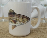 EL113.RED - 15 oz. White El Grande Mug - Redfish EL113.RED