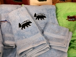 EM10332.SKB.BERS - 3pc 100%  Combed Cotton Towel Set -  Sky Blue - Bear Silhouette EM10332.SKB.BERS