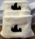 3pc 100% Cotton Towel Set - Ivory - Bear and Cubs EG.IV.LBF