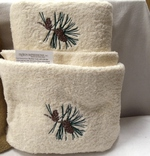 3pc 100% Cotton Towel Set - Ivory - Pine Cone EG.IV.PINE